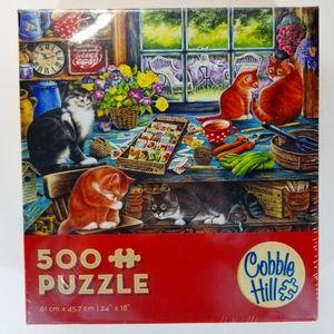 Cobble Hill 500 Piece Puzzle NIB Kitty Cats